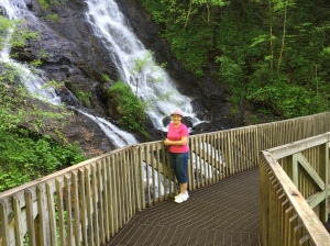 Mom at Amicolola Falls