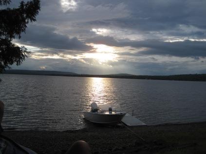 Madawaska Lake in Paul & Bonnie's backyard in Maine